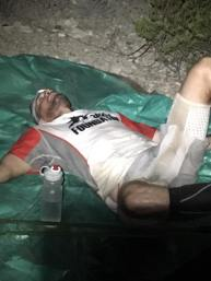Thomas collapsed after crossing finish line.