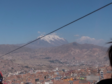 Going up to the city of El Alto via Cable Car